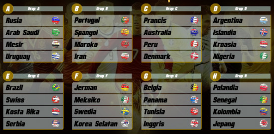 jadwal piala dunia bola88